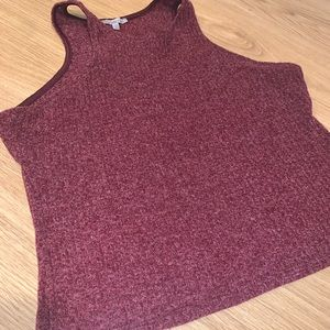 Red halter top- thick fabric!
